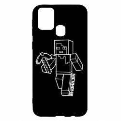 Чехол для Samsung M31 Minecraft and hero nickname