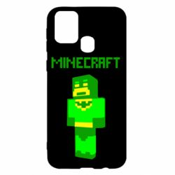 Чехол для Samsung M31 Minecraft Batman