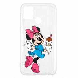 Чехол для Samsung M31 Minnie Mouse and Ice Cream