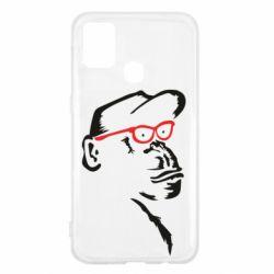 Чохол для Samsung M31 Monkey in red glasses