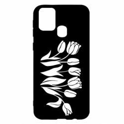 Чохол для Samsung M31 Monochrome tulips