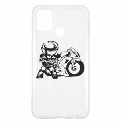 Чехол для Samsung M31 Мотоциклист