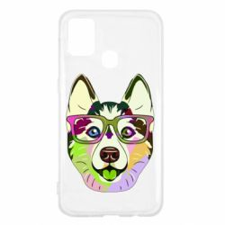 Чохол для Samsung M31 Multi-colored dog with glasses