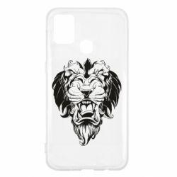 Чехол для Samsung M31 Muzzle of a lion