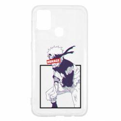 Чехол для Samsung M31 Naruto Hokage glitch