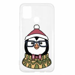 Чехол для Samsung M31 New Year's Penguin