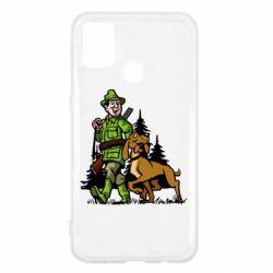Чохол для Samsung M31 Мисливець з собакою