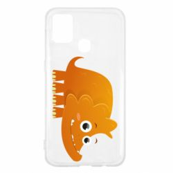 Чехол для Samsung M31 Orange dinosaur