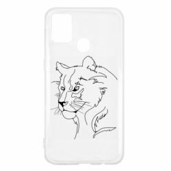 Чехол для Samsung M31 Outline drawing of a lion