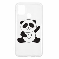Чохол для Samsung M31 Panda and heart