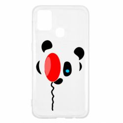 Чехол для Samsung M31 Panda and red balloon