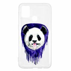 Чехол для Samsung M31 Panda on a watercolor stain
