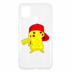 Чехол для Samsung M31 Pikachu in a cap