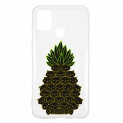 Чехол для Samsung M31 Pineapple cat