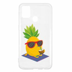 Чехол для Samsung M31 Pineapple with coconut