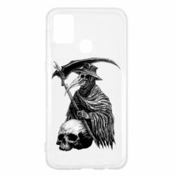 Чехол для Samsung M31 Plague Doctor graphic arts