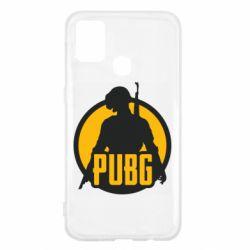 Чехол для Samsung M31 PUBG logo and game hero