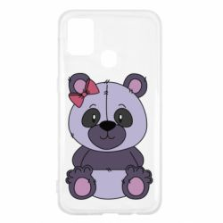Чохол для Samsung M31 Purple Teddy Bear