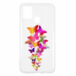 Чохол для Samsung M31 Rainbow butterflies
