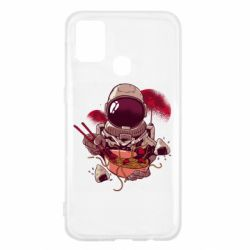 Чехол для Samsung M31 Рамэн Космонавт