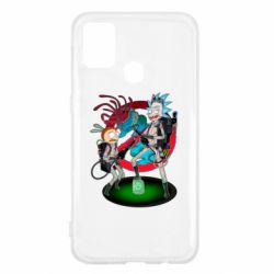 Чохол для Samsung M31 Rick and Morty as Ghostbusters