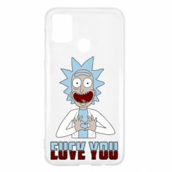 Чохол для Samsung M31 Rick and Morty fack and love you