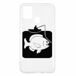 Чехол для Samsung M31 Рыба на крючке
