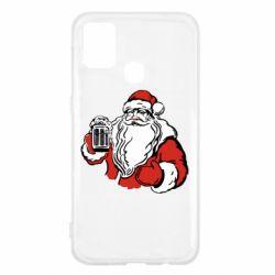 Чехол для Samsung M31 Santa Claus with beer