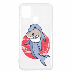 Чехол для Samsung M31 Shark or dolphin