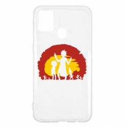 Чохол для Samsung M31 Silhouette of Rick and Morty at Sunset