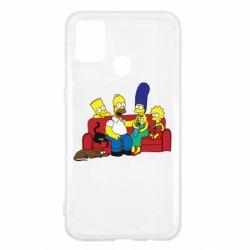 Чехол для Samsung M31 Simpsons At Home