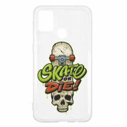 Чохол для Samsung M31 Skate or die skull