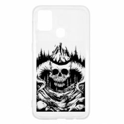 Чехол для Samsung M31 Skull with horns in the forest