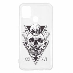 Чохол для Samsung M31 Skull with insect