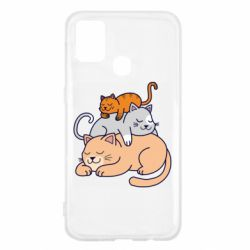 Чехол для Samsung M31 Sleeping cats