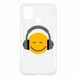 Чехол для Samsung M31 Smile in the headphones