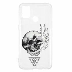 Чохол для Samsung M31 Smoke from the skull