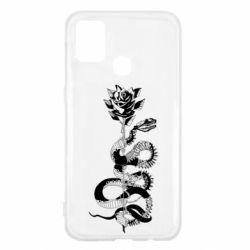 Чохол для Samsung M31 Snake and rose