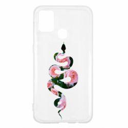 Чохол для Samsung M31 Snake and roses