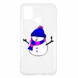Чехол для Samsung M31 Снеговик