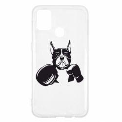 Чохол для Samsung M31 Собака в боксерських рукавичках
