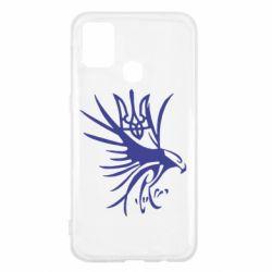 Чохол для Samsung M31 Сокіл та герб України