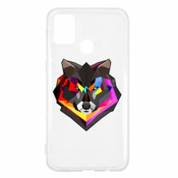 Чехол для Samsung M31 Сolorful wolf