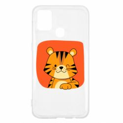 Чехол для Samsung M31 Striped tiger with smile