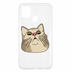 Чехол для Samsung M31 Surprised cat