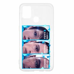 Чохол для Samsung M31 The faces of androids game Detroit: Become human