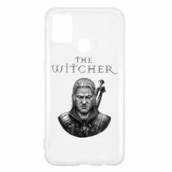 Чехол для Samsung M31 The witcher art black and gray