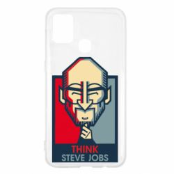 Чехол для Samsung M31 Think Steve Jobs