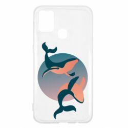 Чехол для Samsung M31 Two whales