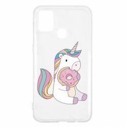 Чехол для Samsung M31 Unicorn and cake